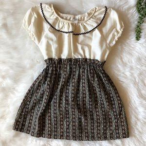 VGUC size 6 Sears Vintage Cream & Floral Dress!